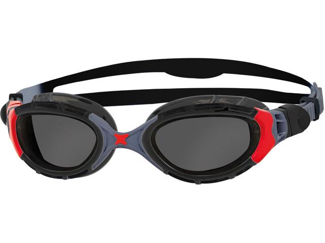 Zoggs Predator Flex Gafas Polarizadas, black/red/smoke